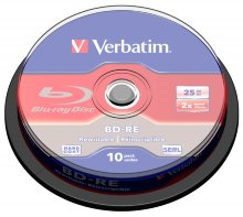 Диск BD-RE Verbatim 25Gb 2x Cake Box (10шт) (43694) Flex105324