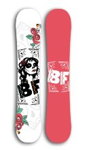 Сноуборд BF snowboards 2017-18 Special Lady black rose см:138