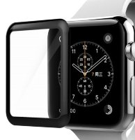 Стекло 2D для Apple Watch 42mm (black) Goods